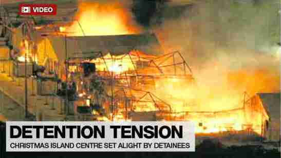 There Riots at Australia's Christmas Island Centre
